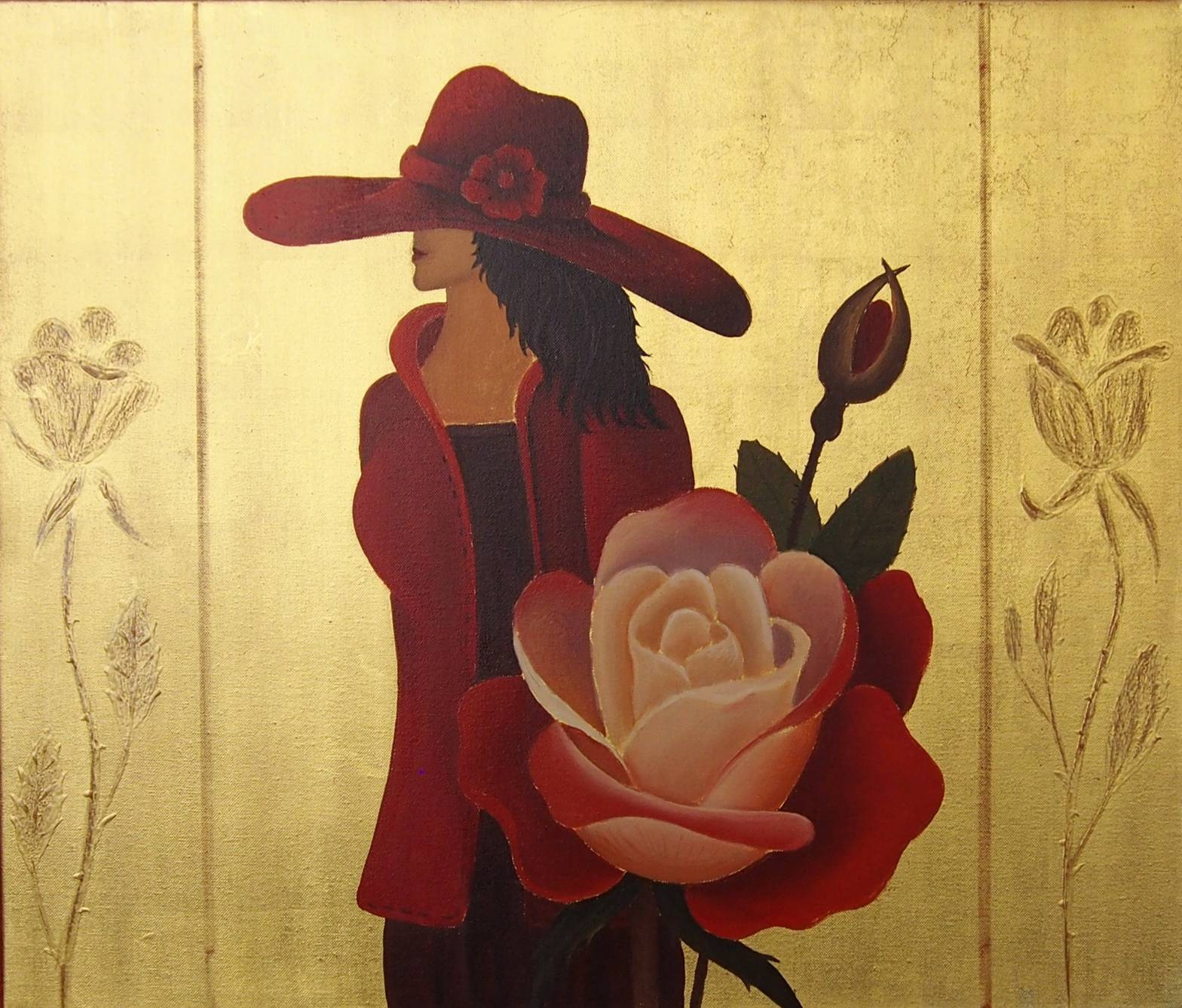 "MS_721  ""Lady in Red""  60 x 70 cm"